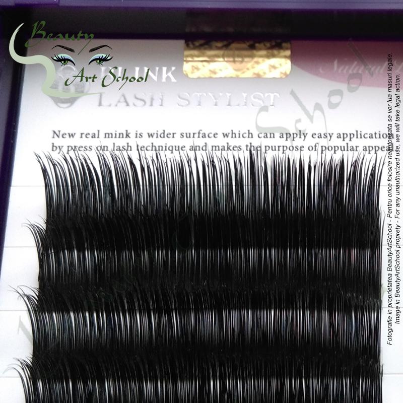 Extensii De Gene Blink Natural Real Mink 100 Din Par De Nurca